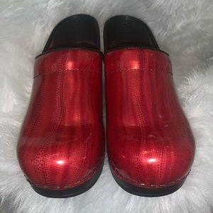 EUC Danskos red bright gorgeous size 37